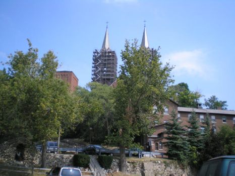 Wide view of Basilica by steward
