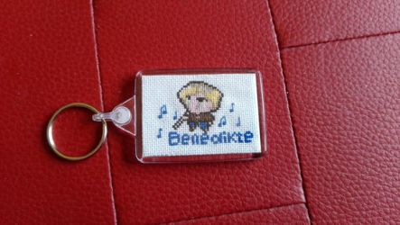 Custom pixelated character Keychain by Rexcalius