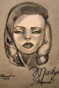 Marilyn Monroe Sketch by SleeplessXSapphire