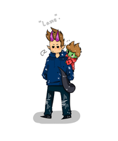 Monster Tom and Zombie Tord by saturnzstar