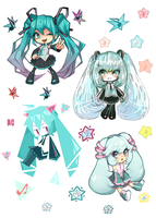 4 x miku by 6lin