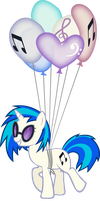 Vinyl Scratch Balloon Travel by GDPG