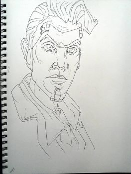 Handsome Jack outline by LeAnimeFiend