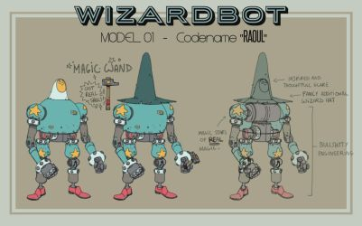 Wizardbot - Raoul concept by Zedig