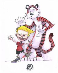 Calvin and Hobbes by JeremyTreece