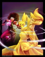 Garnet Vs Yellow Diamond by tiocleiton