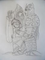 Ashe and Tryndamere by Blackspindl8
