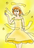 Yellow Butterflies and Ribbons by PureAngelDragon713