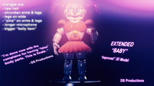 IMPROVED BABY MODEL   SISTER LOCATION by DS-Productions2