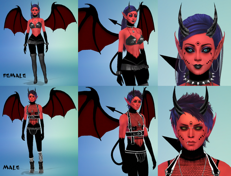 Species - Succubus and Incubus by Reitanna-Seishin
