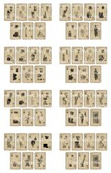 Printable Steampunk Playing Cards by VectoriaDesigns