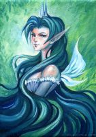 Fairy Queen - Acrylic Painting by bluessence