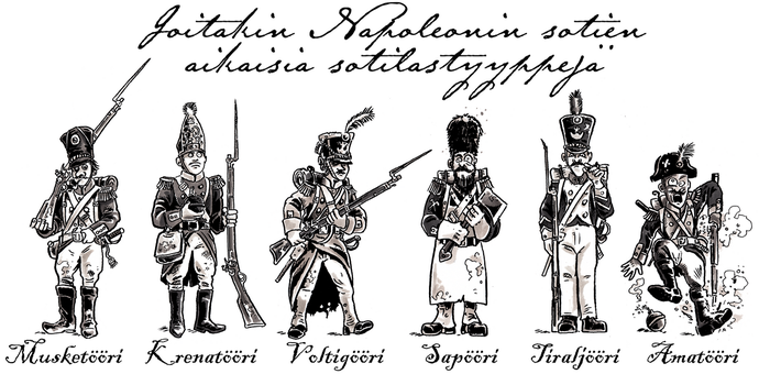 Few footsoldier types from the Napoleonic Wars era by tuomaskoivurinne