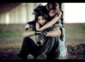 Zack and Aerith: Don't cry by Narga-Lifestream