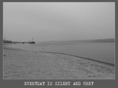 Everyday is silent and grey by brilliantcreature