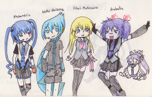 Lil UTAU group x3 by Hakadirune