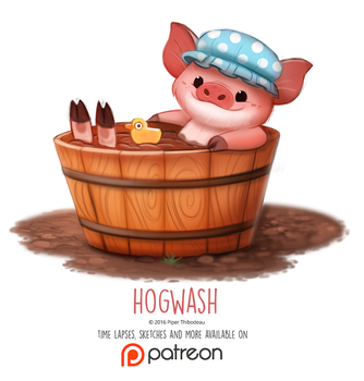 Day 1409. Hogwash by Cryptid-Creations