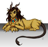 Manticore Girl by gogglesonmyhead