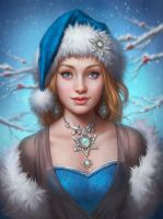 Christmas Lady - Beautiful Antique Jewelry by Viccolatte