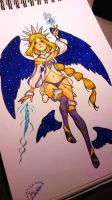 Character design - cosmic angel (open to buy) by hedgehog-thesniff