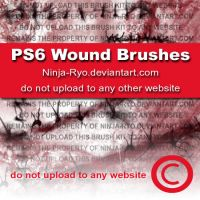 PS6 BRUSHES - Wounds by Ninja-Ryo