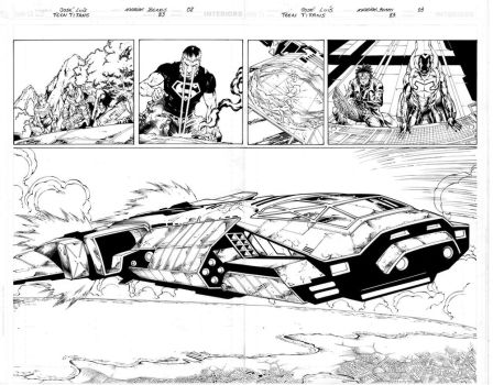 Teen Titans 83 pgs 02,03 Inks by Mariah-Benes