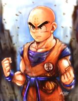 Krillin painting by Mark-Clark-II