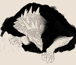 Cavern Dragon Sketch by KawaINDEX