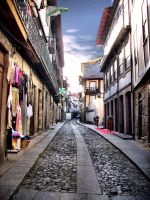 Medieval street of Guimaraes, Portugal by vmribeiro