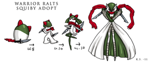 Warrior Gardevoir Squiby adopt by The-Clockwork-Crow