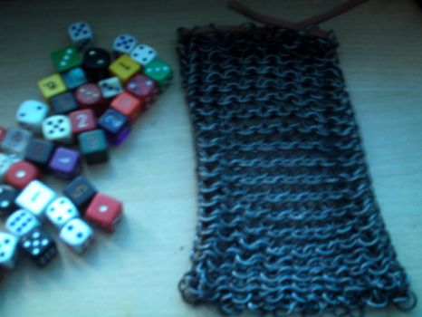 Chainmail dice bag 2 by Nihtgenga