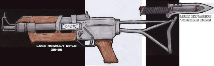 LSSC Assault Rifle + knife by IfritianIndustries