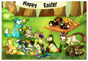 ych easter egg hunt by Chargay