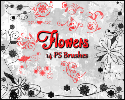 PS Flower Brushes by Illyera