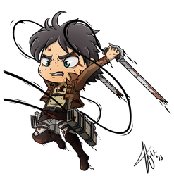 Chibi Eren - Shingeki no Kyojin (Attack on Titan) by Cachomon