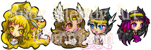 Commission Chibi Special Set 1 by RubyMelody