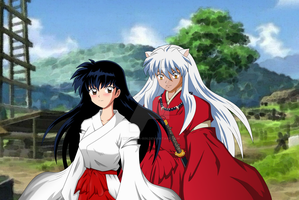 Inuyasha and Kagome by inu-sessh-rin