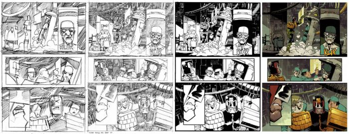 Judge Dredd #8 page 4 Process by nelsondaniel
