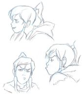 Korra Sketches 1 by Josh-Ulrich