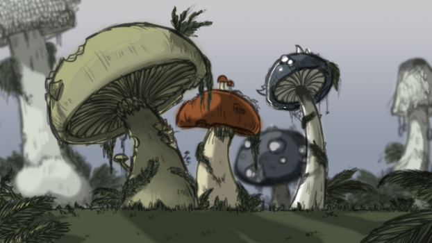 Forest Concept Art by Tsukasa-girl