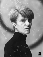 David Bowie portrait by rangverse