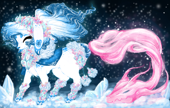 Frozen Flowers Soulfox Auction [closed] by yumehaeya