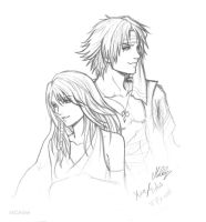 Yuna and Tidus FFX Will by MCAshe