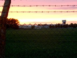 Barbed Wire Sunset by biggyp