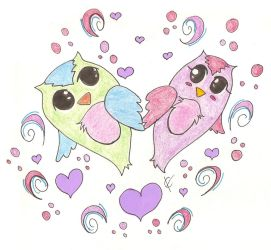 Valentine's Owls by ctaynay