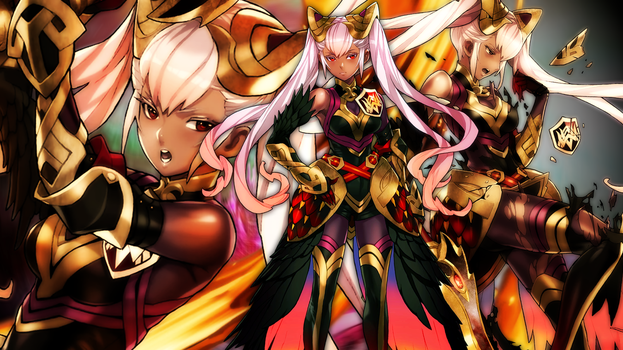 Fire Emblem Heroes - Laevatein Wallpaper by AuroraMaster