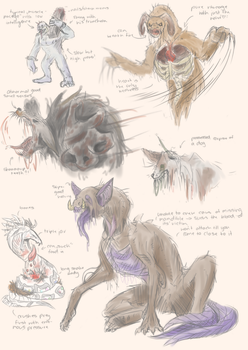 monster designes by Aaliyah-chan02