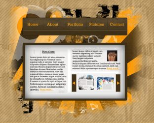 Grunge Web Layout - Revision 1 by Mentalhead