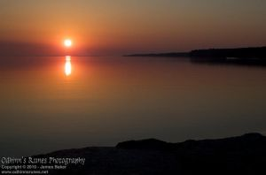 Sunrise over Kempenfelt Bay by odhinnsrunes