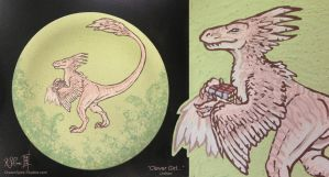 Clever Girl... - Un-fired Raptor Plate by Dreamspirit